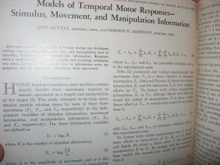March 1968 through December 1970,INCOMPLETE RUN - bound volume of the Transactions (formerly Human Factors in Electronics)