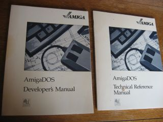 Amiga DOS Developer's Manual; AND, AmigaDOS Technical Reference Manual (two manuals). var Amiga