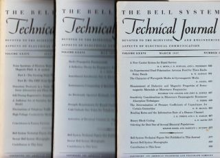 The Bell System Technical Journal 1957 LOT of 3 individual issues volume XXXVI numbers 2,3,4 March May July 1957. AT&T BSTJ.