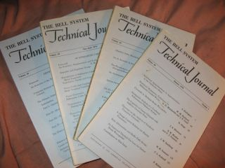 The Bell System Technical Journal 1970 LOT of 4 individual issues Volume 49 numbers 1,3,5,9;...