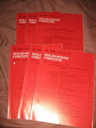 LOT of 6 issues complete year 1976 Special Issues, Charge Transfer Devices; Microwave Circuits; Integrated Circuits; Semiconductor Memory and Logic; Analog Circuits; MORE. var. IEEE Journal of Solid-State Circuits.