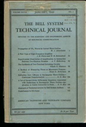 The Synthesis of Two-Terminal Switching Circuits, in, Bell System Technical Journal Volume XXVIII Number 1 January 1949. Claude E. Shannon.