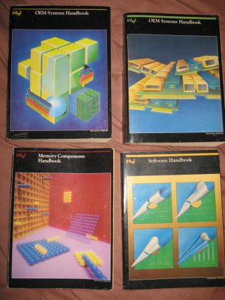 Lot of 4 handbooks 1984-1987; Memory components, Software, OEM Systems etc. Intel