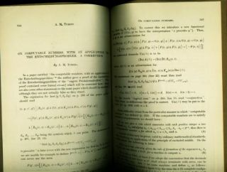 On Computable Numbers, with an Application to the Entscheideungsproblem. A Correction. Proceedings of the London Mathematical Society 1936 Turing, lan, atthison.