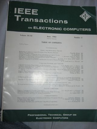 IEEE Transactions on Electronic Computers, June 1963; IRE Transactions on electronic computers,...