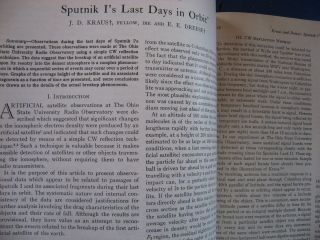Proceedings of the IRE September 1958 Vol 46 No. 9; Information Theory; Sputnik I's Last Days