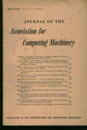 Sequential Processing Machines (SPM) Analyzed with a Queuing Theory Model, in, Journal of Association for Computing Machinery v 13, 2 April 1966. Leonard Kleinrock, Journal of Association for Computing Machinery v. 13, 2 April 1966.