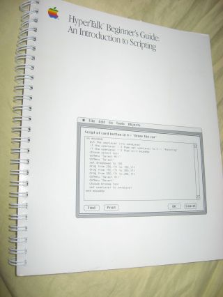 HyperTalk Beginner's Guide - an Introduction to Scripting 1989. Apple Computer Macintosh