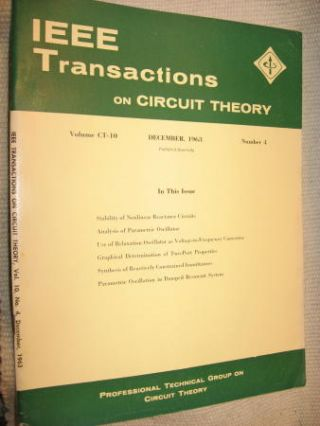 IEEE Transactions on Circuit Theory volume CT-10 Number 4 - December, 1963. IEEE Transactions on...