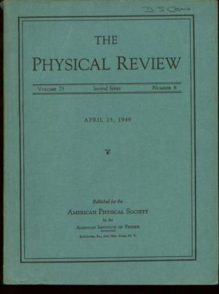 Physical Principles Involved in Transistor Action, in, The Physical Review, Vol 75, No. 8, April 15, 1949; Second Series. J. Bardeen, W. H. Brattain.
