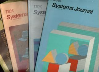 IBM Systems Journal 1984 Volume 23 nos. 1 - 4; four individual issues. IBM Systems Journal
