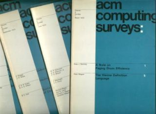 ACM Computing Surveys volume 4, nos. 1 - 4, 1972 complete year, four individual issues -- vol 4...