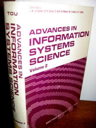 Advances in Information Systems Science, volume 2 1969. Julius Tou