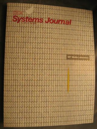 IBM Systems Journal Vol 39 nos. 3 and 4, 2000 special issue on MIT Media Laboratory 15th...