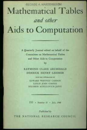The IBM Pluggable Sequence Relay Calculator, in Mathematical Tables and Other Aids to Computation, Volume III, Number 23, July, 1948, pp. 149-161 inclusive