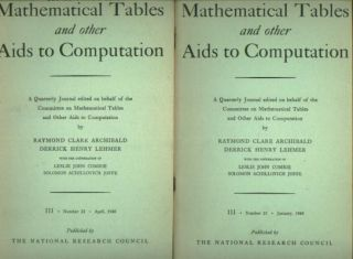 A Bell Telephone Laboratories Computing Machine, parts I and II, in, MTAC Mathematical Tables and...