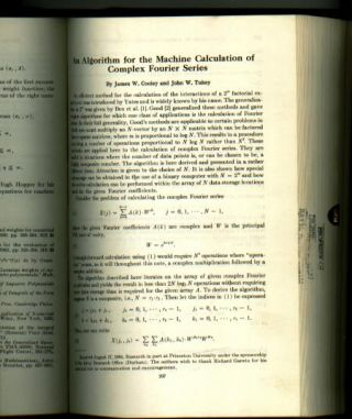 An Algorithm for the Machine Calculation of Complex Fourier Series, in , Mathematics of...