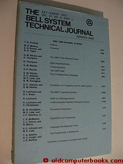 Bell System Technical Journal July-August 1978, vol 57 no 6 pt 2 , UNIX Time-sharing system. Thompson Ritchie, Kernighan.