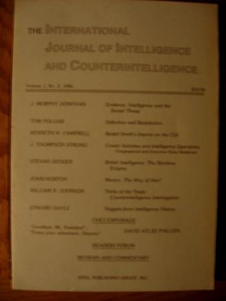 British Intelligence -- the Rainbow Enigma, in, International Journal of Intelligence and...