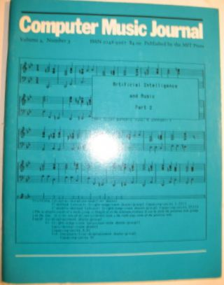 Computer Music Journal volume 4, number 3 Fall 1980. Curtis Roads