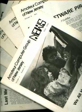 Amateur Computer Group of New Jersey News, 8 individual issues, 1980 newsletters. Amateur...