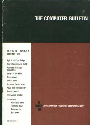 The Computer Bulletin, volume 13 number 2, February 1969. The British Computer Society.