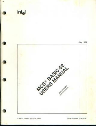 MCS BASIC-52 Users Manual, 1984