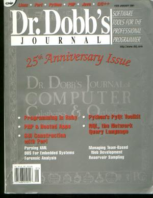 Dr. Dobb's Journal 25th Anniversary Issue, January 2001, #320; look back at history of personal computers. Dr Dobb's Journal.
