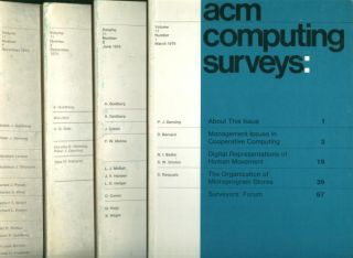 ACM Computing Surveys complete year 1979, four individual issues, March, June, September, December, volume 11 nos. 1 through 4 inclusive
