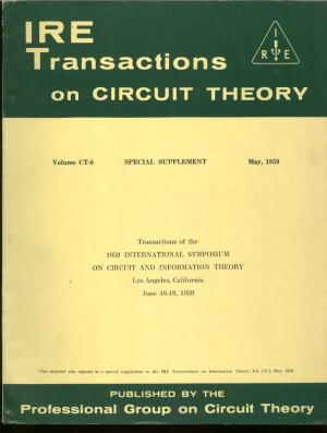 IRE Transactions on Circuit Theory, volum CT-6, May 1959, Special Supplement. IRE Institute of...