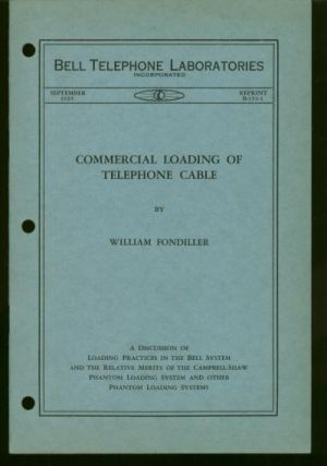 Commercial Loading of Telephone Cable - a discussion of loading practice in the Bell System and...