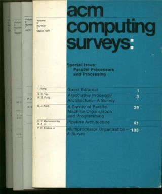 ACM Computing Surveys, volume 9 nos. 1 through 4 inclusive, 1977 full year, 4 individual issues. Association for Computing Machinery.