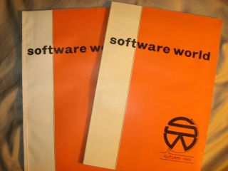 Software World -- two issues autumn 1969 and autumn 1970