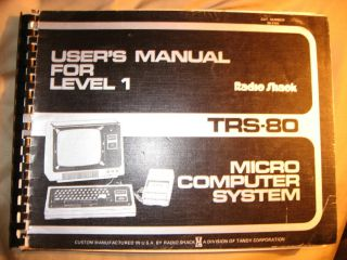 User's Manual for Level 1 -- TRS-80 Microcomputer System 1979