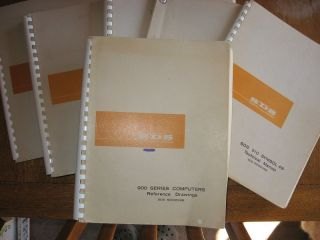 6 SDS technical manuals -- Magnetic Tape System; Programmed Operators SDS 910; SDS 910 Symbol 4B; 900 Series Computers Reference Drawings; SDS 910 and SDS 920 HELP Utility System; Digital Magnetic Tape Recording fundamentals training manual. SDS Scientific Data Systems manuals.