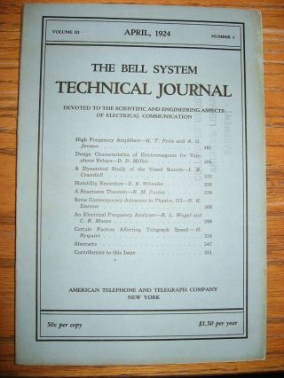 Certain Factors Affecting Telegraph Speed, in, The Bell System Technical Journal, April 1924, volume III, number 2. H. Nyquist, Harry.