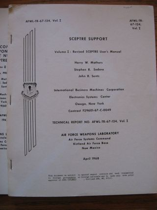 3 volumes SCEPTRE Support, Vol I revised User's Manual, Vol II Maintenance and Applications; Formulation, PREDICT support etc