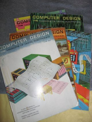 Five issues from 1975, June 1975, July 1975, August 1975, September 1975, and December 1975 issue. Computer Design the magazine of digital electronics.