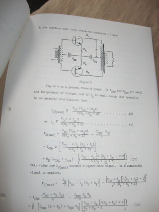 Thermal Stability of Transistor Power Stages, xerox copy from typed manuscript, no date