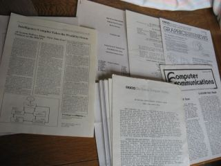 Boston Computer Society, lot of User Group newsletters and other ephemera, see list. Boston Computer Society.