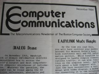 Boston Computer Society, lot of User Group newsletters and other ephemera, see list