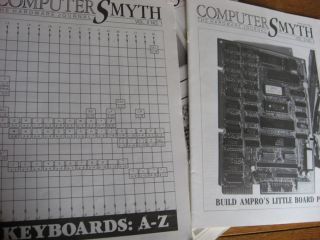 ComputerSmyth, the Hardware Journal; (Computer Smyth), 8 issues (all that were issued); Premier issue, volume 1 number 1 1985 through volume 2 number 4 1986