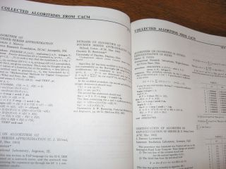 Collected Algorithms from ACM, volume I, algorithms 1-220