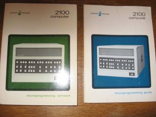 2100 Computer data guide books -- Lot of 2; Microprogramming Guide AND Microprogramming Software; Hewlett-Packard 2100 Computer