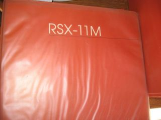 RSX-11M manuals, 7 volumes Orange Binders