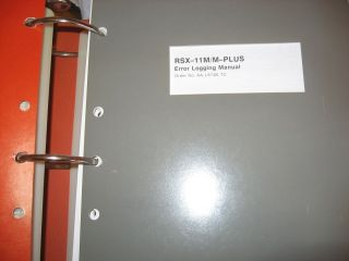 RSX-11M manuals, 7 volumes Orange Binders priced individually or as a Lot ($25.00 per volume or $150.00 the Lot) plus shipping