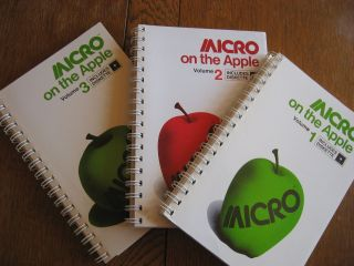 MICRO on the Apple, 3 volumes NO diskettes, 1981