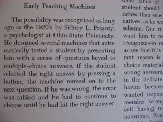 Teaching Machines; separate reprint from Scientific American, November 1961
