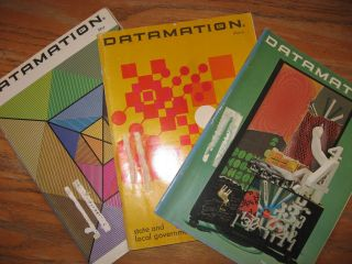 Datamation magazine - three issues 1967; January, March, May 1967 (Bell Labs computers; look ahead to 1970s; more). Gardner Landon, Rober F. Forest.