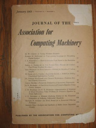 A Machine-Oriented Logic Based on the Resolution Principle, in, Journal of the ACM January 1965. J. A. Robinson.